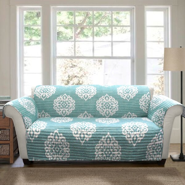 Andie Box Cushion Loveseat Slipcover By Winston Porter