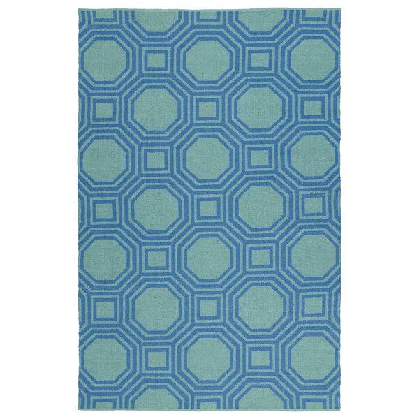 Littleton Blue/Green Indoor/Outdoor Area Rug by Wrought Studio