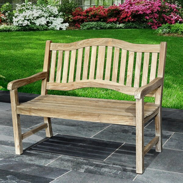Mcintyre Teak Park Bench by Rosecliff Heights