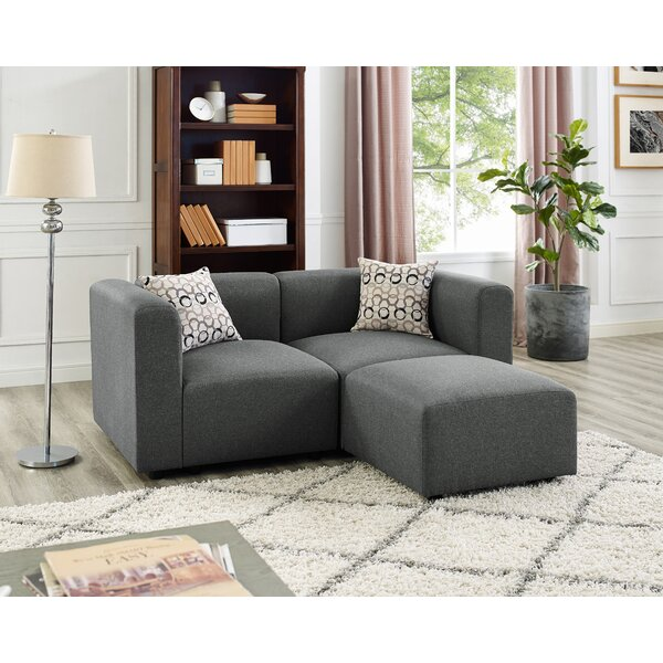 Best #1 Lotte Reversible Modular Sectional By Wrought Studio Best Choices