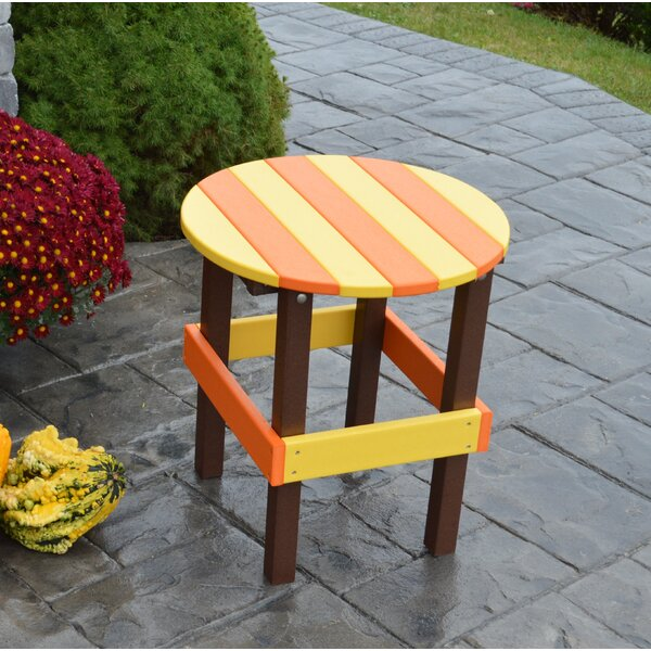 Carignan Plastic/Resin Side Table by August Grove