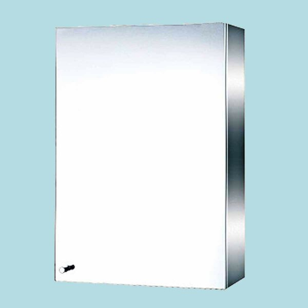Mcquade Stainless Steel 13.75 x 19.75 Surface Mount Frameless Medicine Cabinet