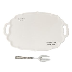 Thanksgiving Turkey 2 Piece Platter Set