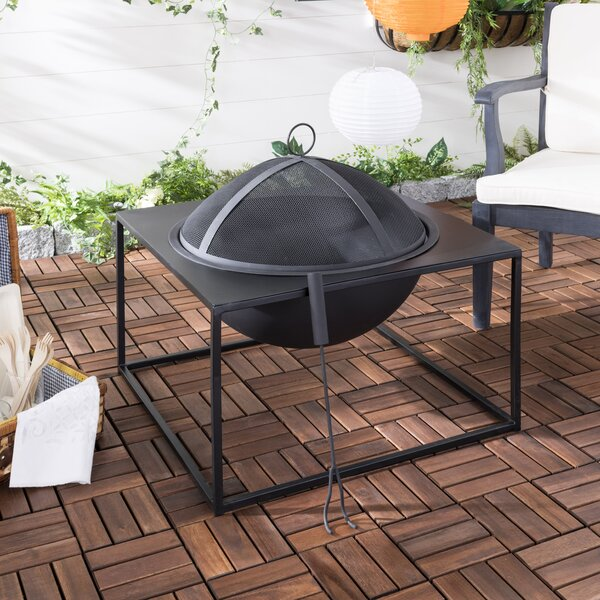 Leros Iron Wood Burning Fire Pit by Safavieh