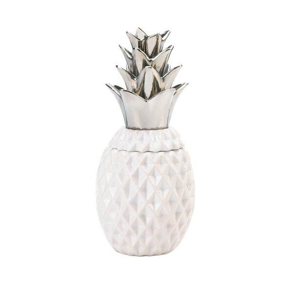 Topped Pineapple Storage Jar by Bayou Breeze