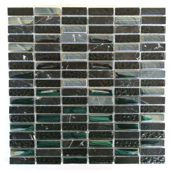 Quartz 0.63 x 2 Glass and Stone Mosaic Tile in Lugnut by Abolos