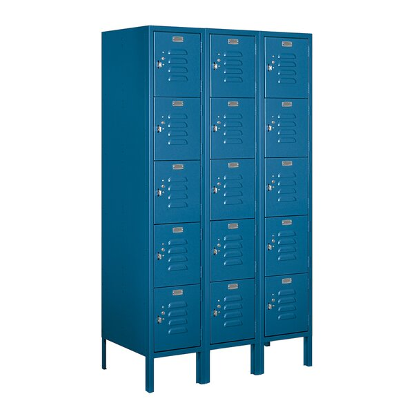 5 Tier 3 Wide Employee Locker by Salsbury Industri