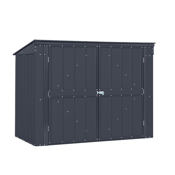 5 ft. W x 3 ft. D Metal Horizontal Garbage Shed by Globel