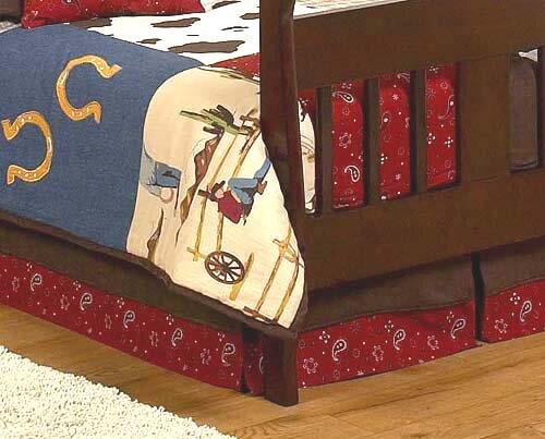Wild West Cowboy Toddler Bed Skirt by Sweet Jojo Designs