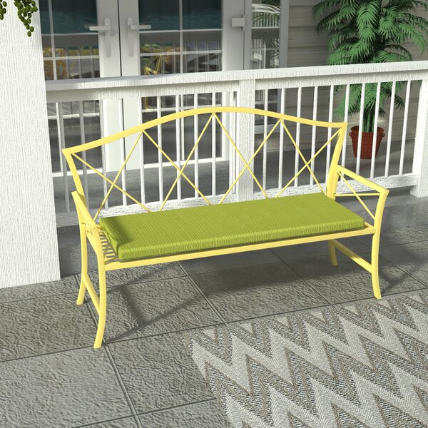 Merrill Steel Garden Bench by Wrought Studio