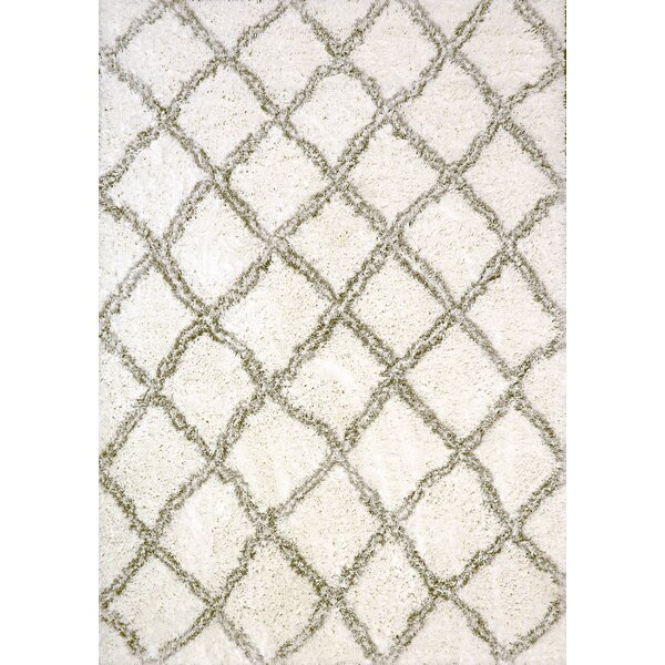 Tryon White/Silver Area Rug by Wrought Studio