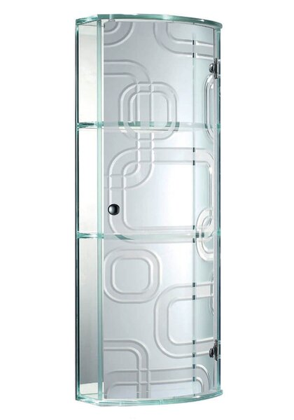 10.87 W x 28.75 H Wall Mounted Cabinet by Fab Glass and Mirror