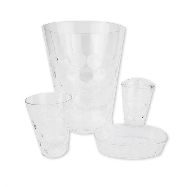 Bubble Patterned 4 Piece Bathroom Accessory Set by Home Basics