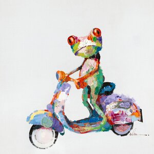 'Urban Frog' Painting Print on Wrapped Canvas by Latitude Run