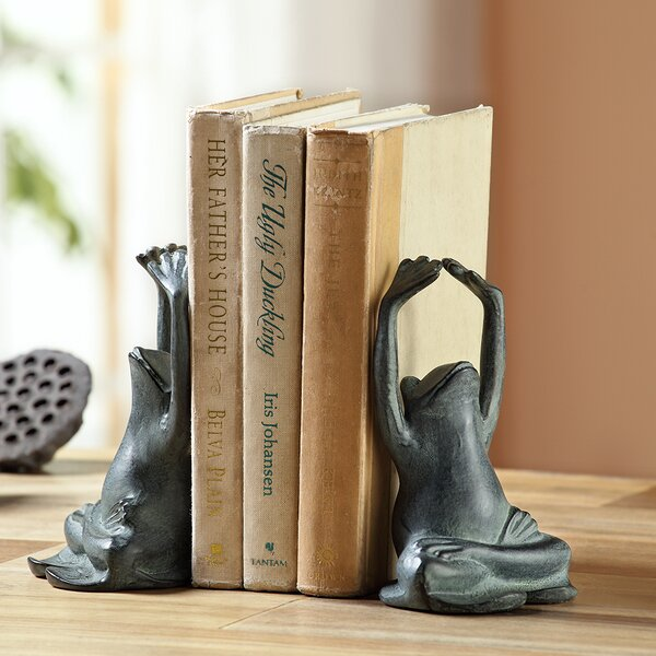 Yoga Frog Book Ends (Set of 2) by SPI Home