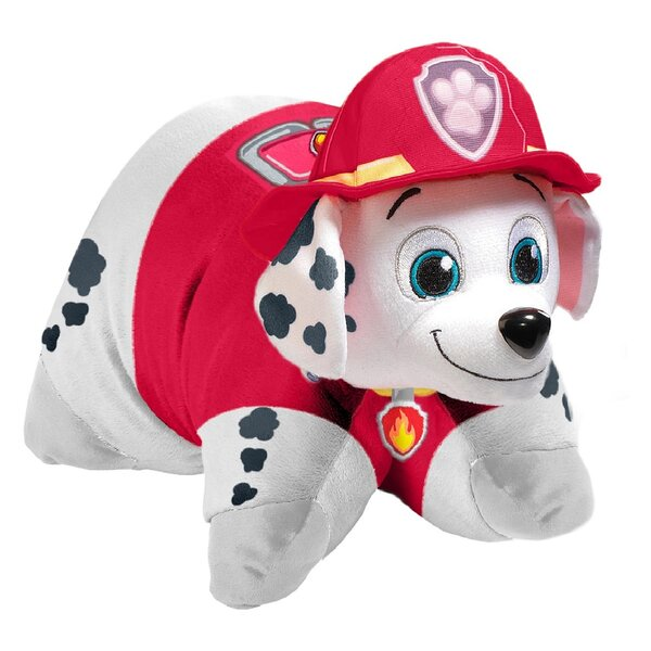 Nickelodeon Paw Patrol Marshall Plush Chenille Throw Pillow by Pillow Pets