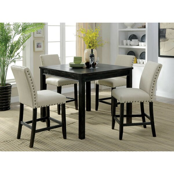 Delvale 5 Piece Counter Height Extendable Dining Set by Alcott Hill