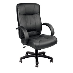 Aptos Leather Executive Chair by Symple Stuff