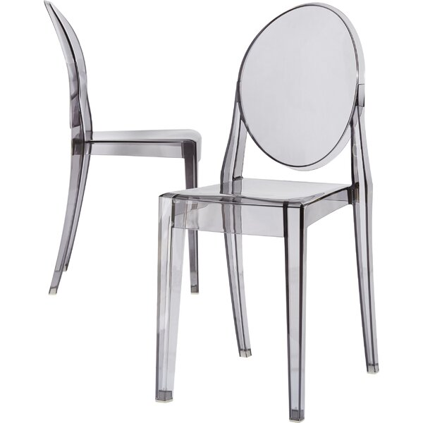 Fabulous Kartell Ghost Victoria Stacking Patio Dining Chair Set Of 2 Inzonedesignstudio Interior Chair Design Inzonedesignstudiocom