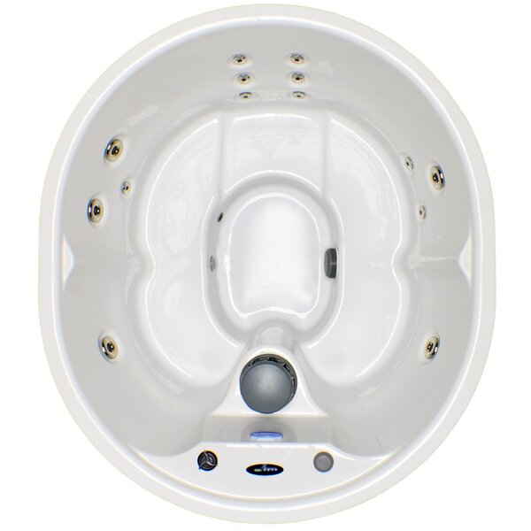 5-Person 14-Jet Plug and Play Spa with Stainless Jets and Underwater LED Light by Hudson Bay Spas