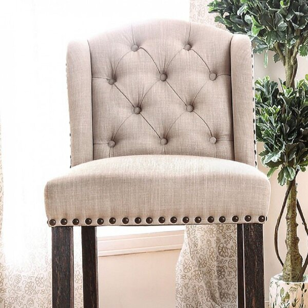 Tomohon Tufted Upholstered Wingback Side Chair in Antique Black (Set of 2) by Canora Grey Canora Grey