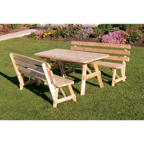 Hamish 3 Piece Dining Set by Millwood Pines