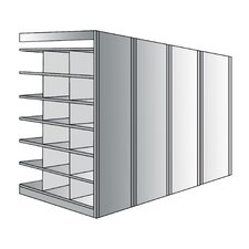 Deep Bin 87 H 7 Shelf Shelving Unit Add on by Hallowell