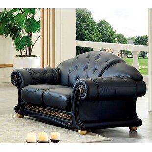 Alexzander Leather Loveseat