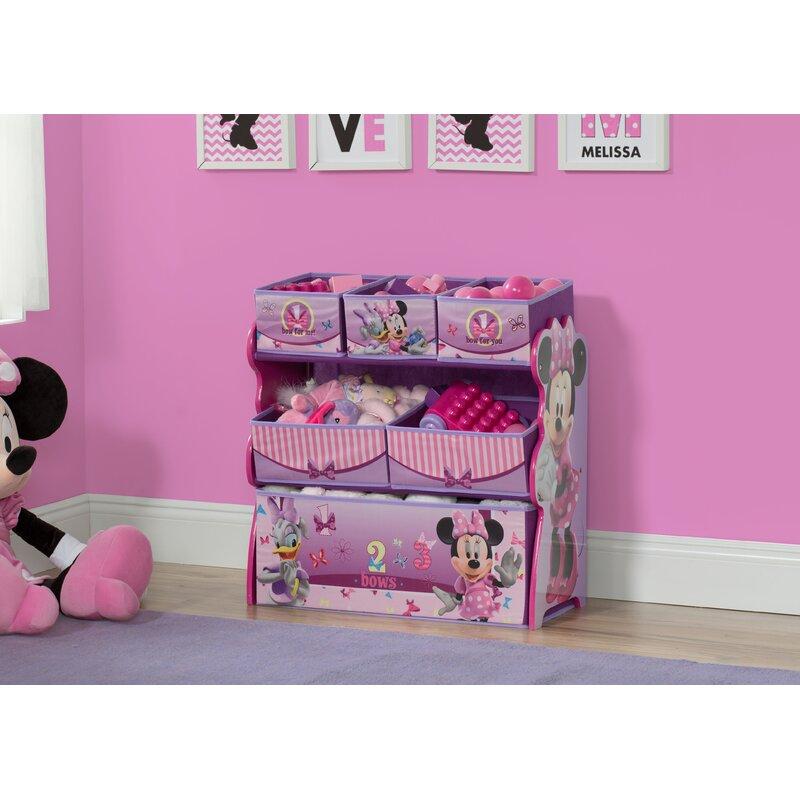 Delta Children Minnie Mouse Multi-Bin Toy Organizer & Reviews | Wayfair