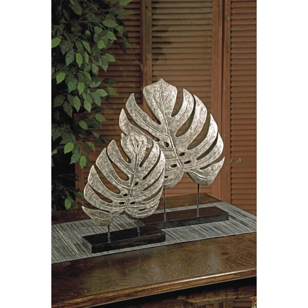Stainbrook 2 Piece Leaves on Stand Sculpture by Bay Isle Home