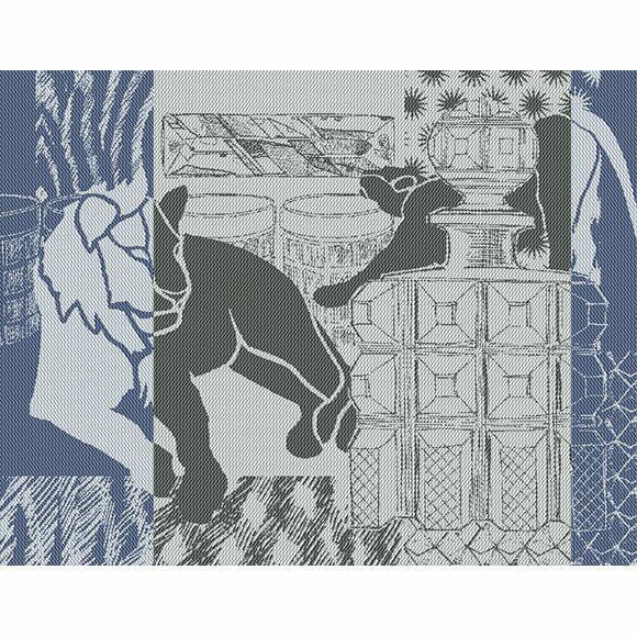 Safari Lounge D Nuit Placemat (Set of 4) by Garnier-Thiebaut Inc