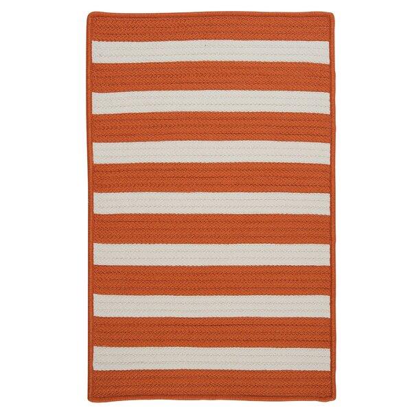 Georg Striped Orange Indoor / Outdoor Area Rug by Viv + Rae Viv + Rae