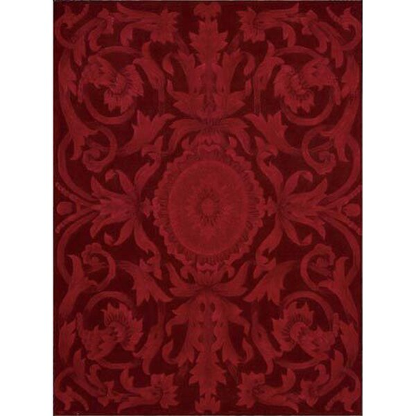 Zaniel Hand-Tufted Ruby Area Rug by Astoria Grand