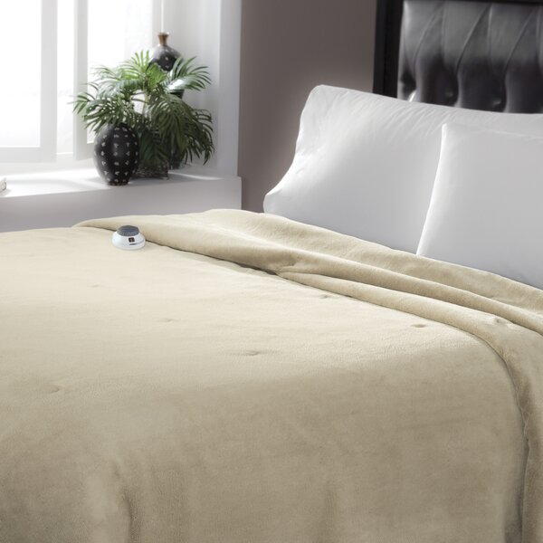 Serta Luxe Plush Micro Fleece Electric Blanket by