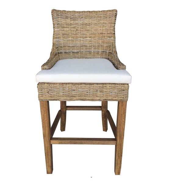Elkins Patio Bar Stool by Rosecliff Heights