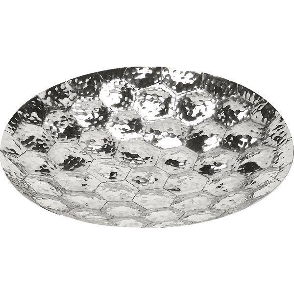 Fakhar Prismatic Hammered Platter by Bungalow Rose