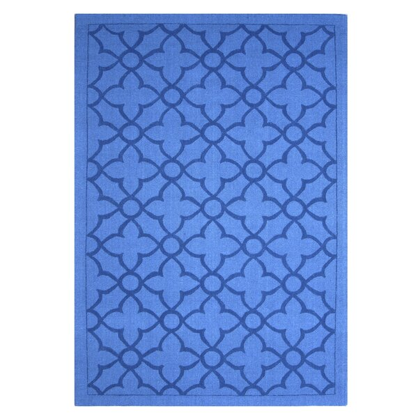 Flamenco Hana Hand-Loomed Royal Blue Area Rug by DecorShore