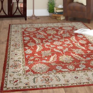 Vivanco Hand-Tufted Wool Red/Beige Area Rug by Red Barrel Studio