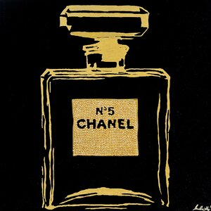 Chanel Urban Chic by Pop Art Queen Graphic Art on Wrapped Canvas in Yellow and Black by Buy Art For Less