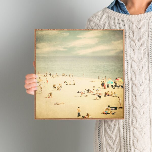 Vintage Beach Framed Photographic Print Plaque by Beachcrest Home