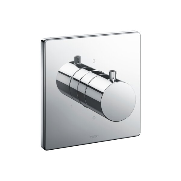 Square Three-Way Diverter Shower Trim with Off by Toto