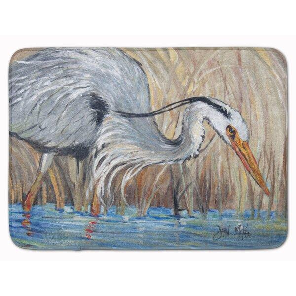 Heron in the Reeds Memory Foam Bath Rug
