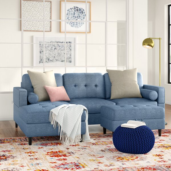 Kesgrave Left Hand Facing Sectional With Ottoman By Three Posts Teen