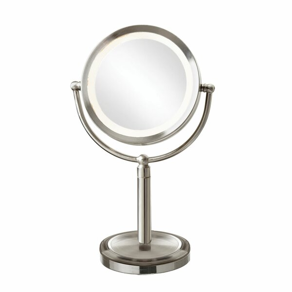 Reticuli LED Lighted Magnifier Table Mirror by Orren Ellis