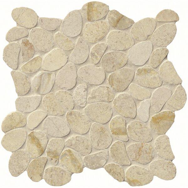 Coastal Sand Honed 12 x 12 Limestone Pebble Mosaic Tile in Beige by MSI