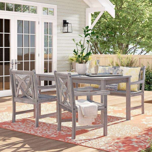 Monterry 4 Piece Dining Set by Beachcrest Home