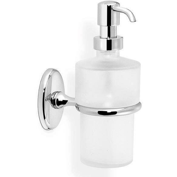 Embree Wall Frosted Glass Soap & Lotion Dispenser by Breakwater Bay