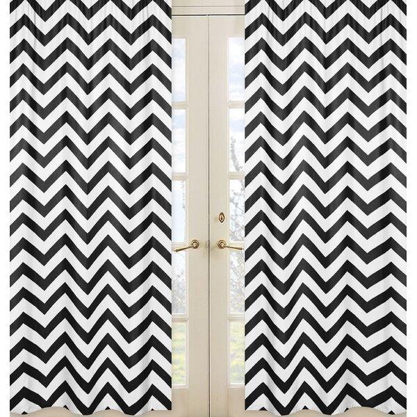 Chevron Semi-Sheer Rod Pocket Curtain Panels (Set of 2) by Sweet Jojo Designs