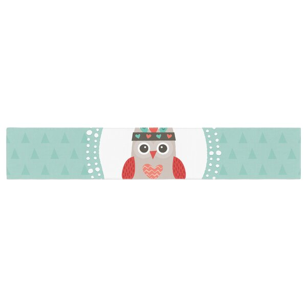 Daisy Beatrice Hipster Owlet Table Runner by East Urban Home