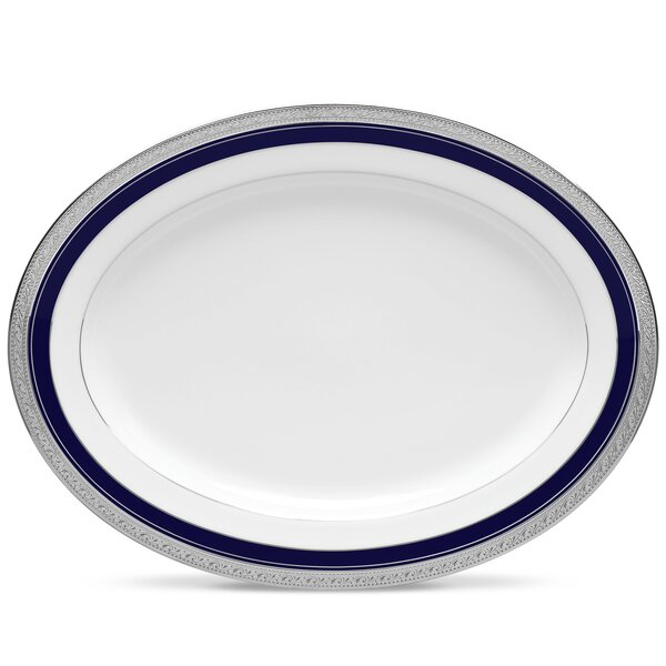 Crestwood Cobalt Platinum Platter by Noritake